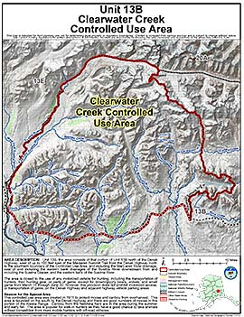 Map of Clearwater Creek Controlled Use Area