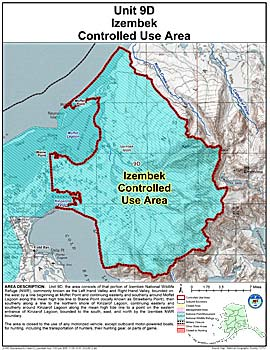 Map of Izembek Controlled Use Area