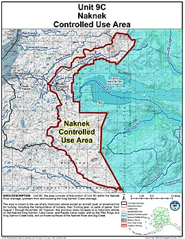Map of Naknek Controlled Use Area