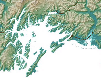 map of the Prince William Sound area